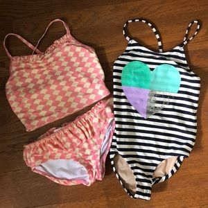 Girls bathing suits sz 8 j crew, Hanna andersson
